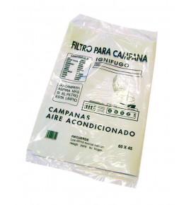 Filtro papel ignifugo para campana extractora. Universal