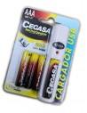 Pilas Recargables Cegasa + Cargador USB