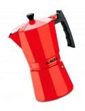 Cafetera Italiana Full Inducción Alza Luxe Red 6 tazas