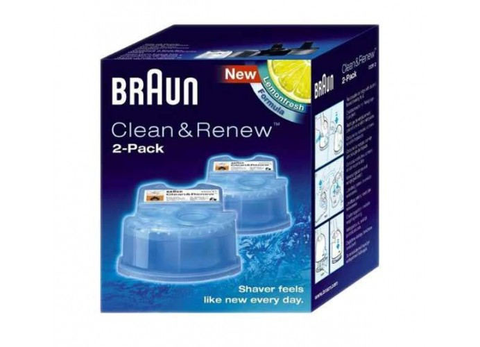 Cartuchos limpiadores cuchillas afeitadoras Braun Clean & Renew
