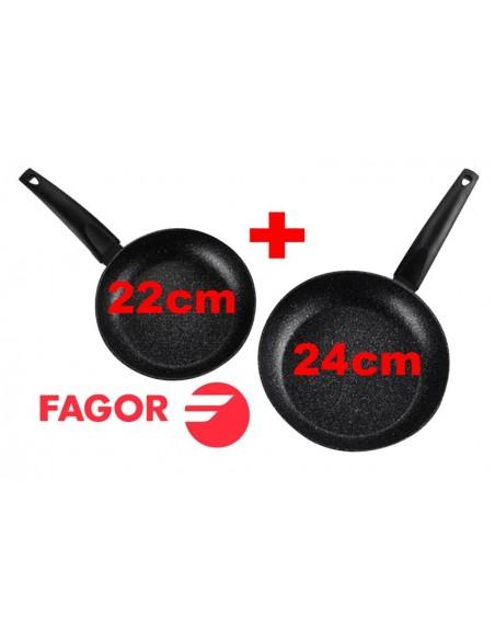 Set Sartenes Fagor Inducción 22cm + 24cm Aluminio