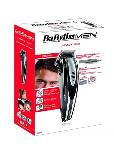 BaBylissMen E956E - Cortapelos, cuchillas de acero inoxidable