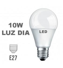 Bombilla LED Esferica E27 10w Luz Dia