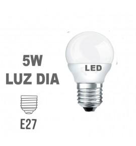 Bombilla LED Esferica E27 5w Luz Dia