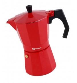 Cafetera Italiana Aluminio Full Induction Vitrinor 12 tazas Roja