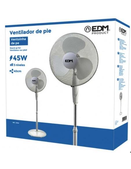 Ventilador de Pie EDM 45w 40cm de aspas 130cm