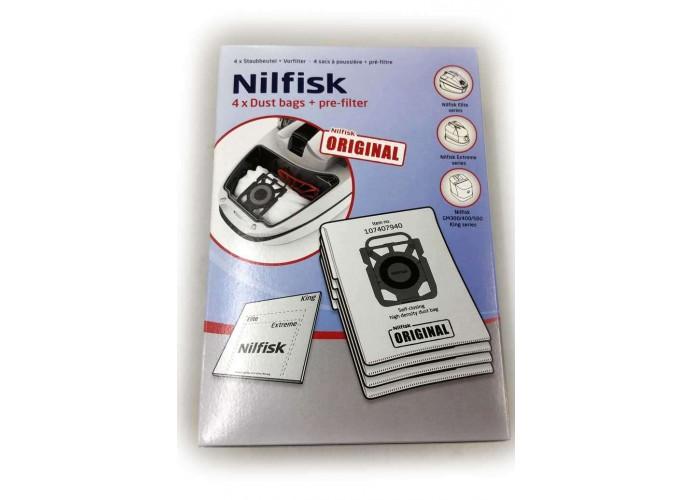 Nilfisk vacuum cleaner bags series Extreme & King