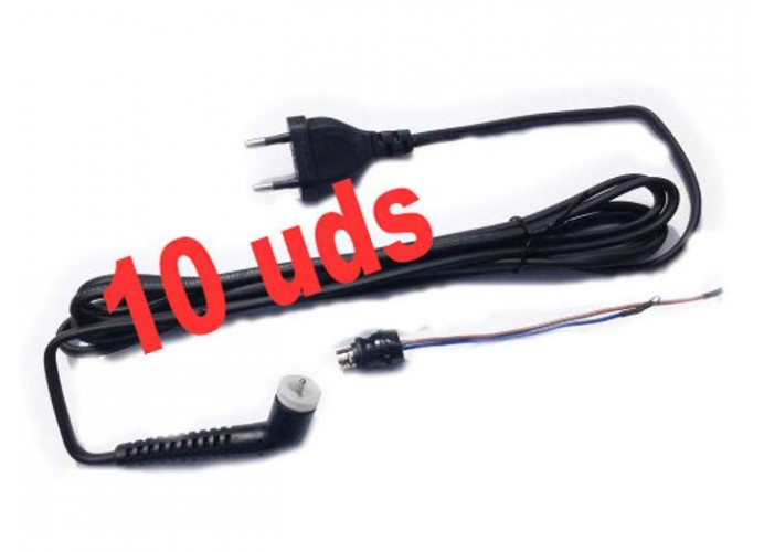 OFERTA 10 x Cable red plancha pelo GHD tipo 2 + Conector