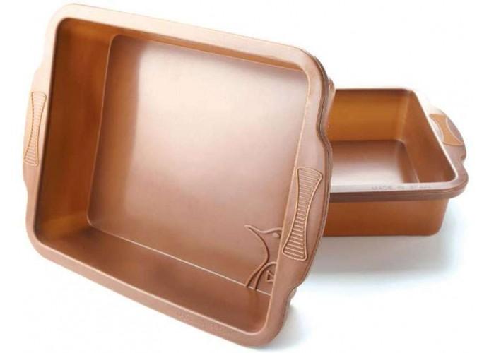 Molde para bizcochos de Silicona cuadrado Pinfi