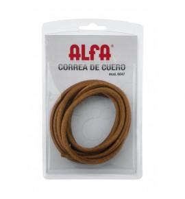 Leather machine belt sewing alpha