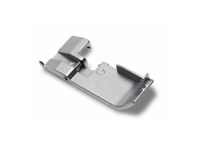 Presser foot for ruffling alpha