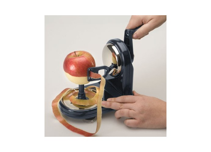 Vertical fruit peeler