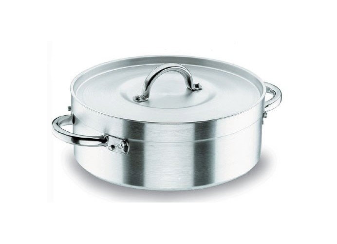 Chef aluminum pan with lid 20 cm