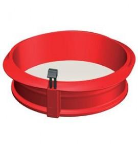 Molde para repostería redondo desmontable, Silicona-Ceramica, 23 cm.